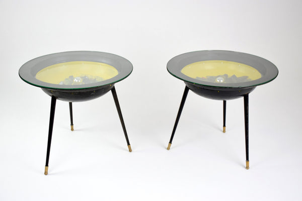 Pair of Space Age Tables with Integrated Lighting, France, 1950's - Spirit Gallery