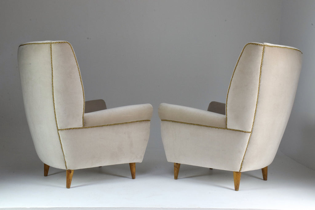 Shop Pair of Vintage Amrchairs by Gio Ponti, 1940's - Spirit Gallery