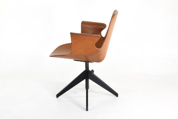 Rare Vittorio Nobili Office Chair for Fratelli Tagliabue, Italy, 1950's - Spirit Gallery