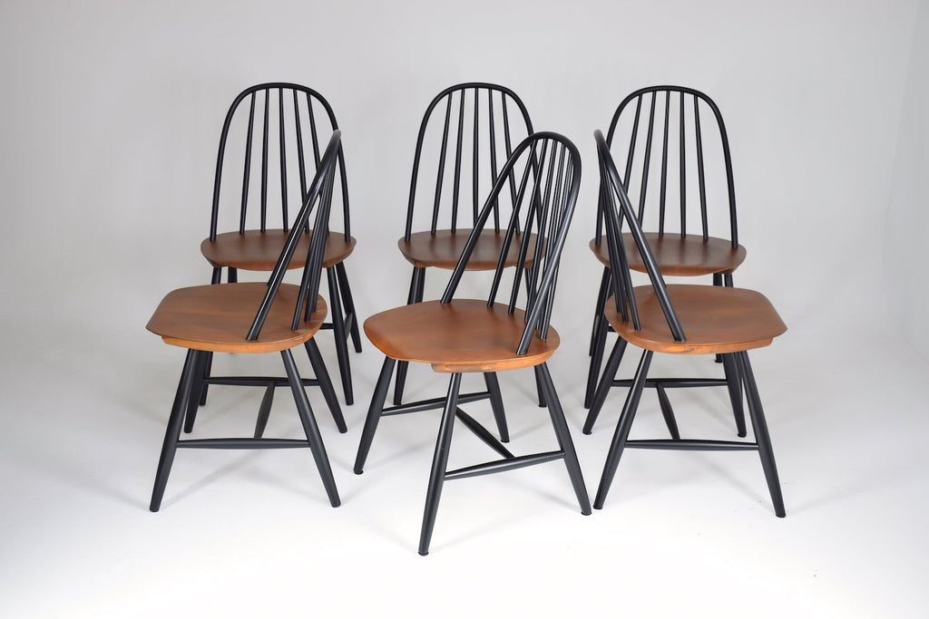 Set of 6 Scandinavian Mid-Century Dining Chairs by Hagafors, 1960's - Spirit Gallery