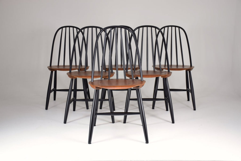 Shop Set of 6 Scandinavian Mid-Century Dining Chairs by Hagafors, 1960's - Spirit Gallery