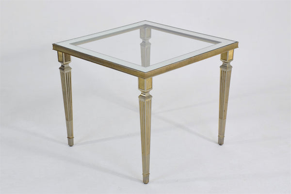 Shop Silvered Brass Coffee or Side Table, France, 1970's - Spirit Gallery