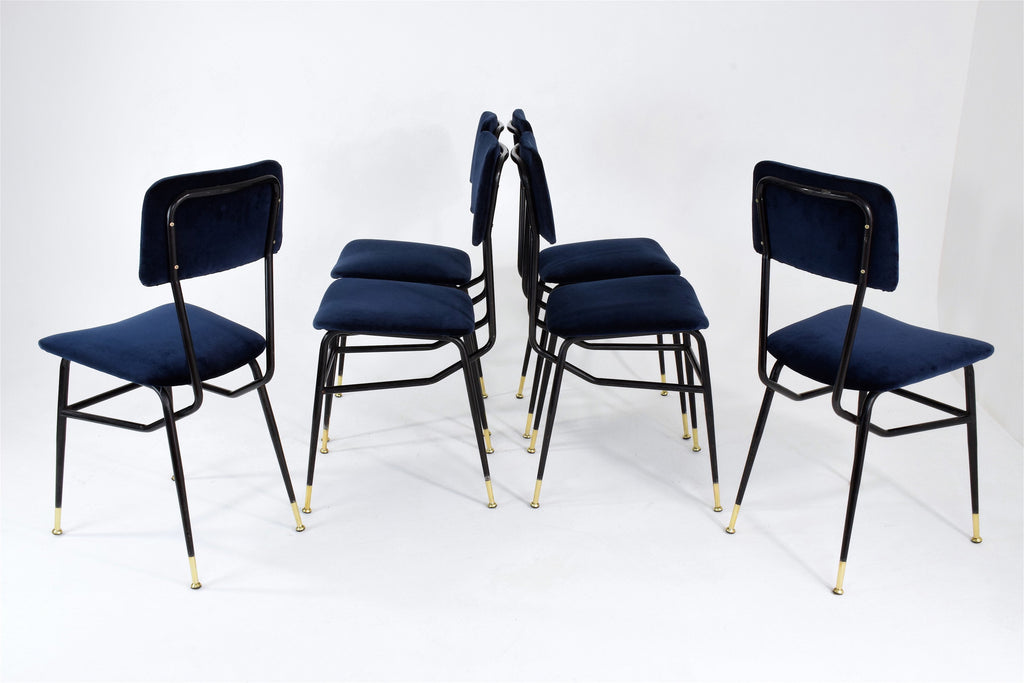 Six Italian Vintage BBPR Dining Chairs, 1950's - Spirit Gallery