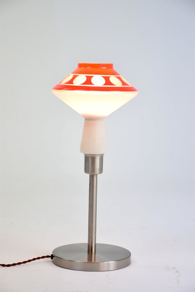 Shop Space Age Opal Glass Table Lamp, 1970's - Spirit Gallery
