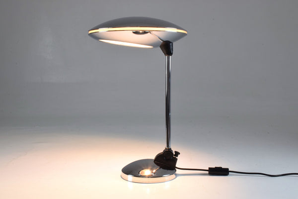 Shop Spanish Vintage Chrome Desk Lamp by Fase, 1950's - Spirit Gallery