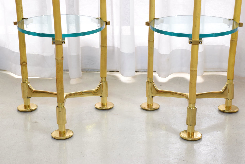 Shop Two Vintage Brass Bamboo Floor Lamps, Gabriella Crespi Style, 1970s - Spirit Gallery