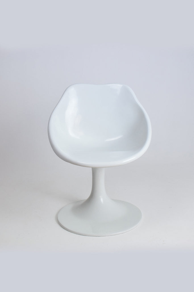 Unique White Fiberglass Space Age Chair, 1970's - Spirit Gallery