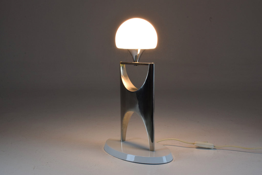 Vintage Aluminium Boulle Table Lamp, 1950-1960 - Spirit Gallery