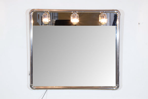 Vintage Vanity Mirror with Light Bulbs, 1970's - Spirit Gallery