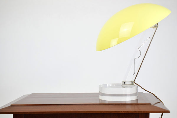 Vintage Yellow Table Lamp, 1970's - Spirit Gallery