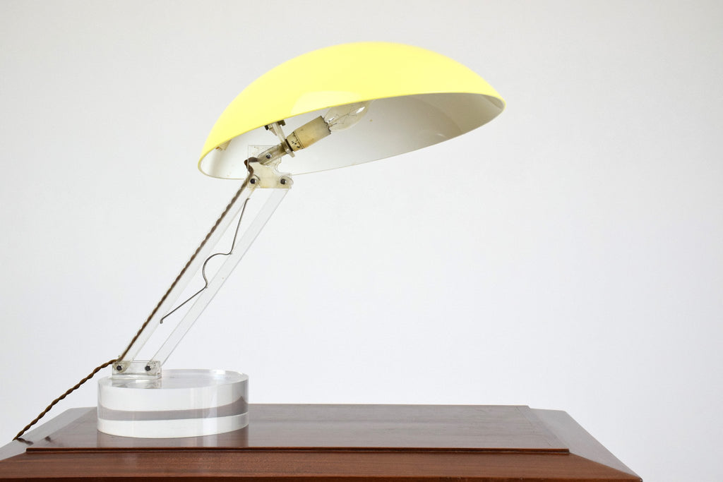 Shop Vintage Yellow Table Lamp, 1970's - Spirit Gallery