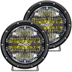 "360-SERIES 6"" LED LIGHT DRIVING BEAM PATTERN (WHITE BACKLIGHT) / PAIR"