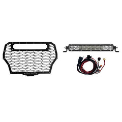 2017 POLARIS RZR TURBO GRILLE KIT INCLUDES 1 10in. SR-SERIES SPOT/FLOOD COMBO