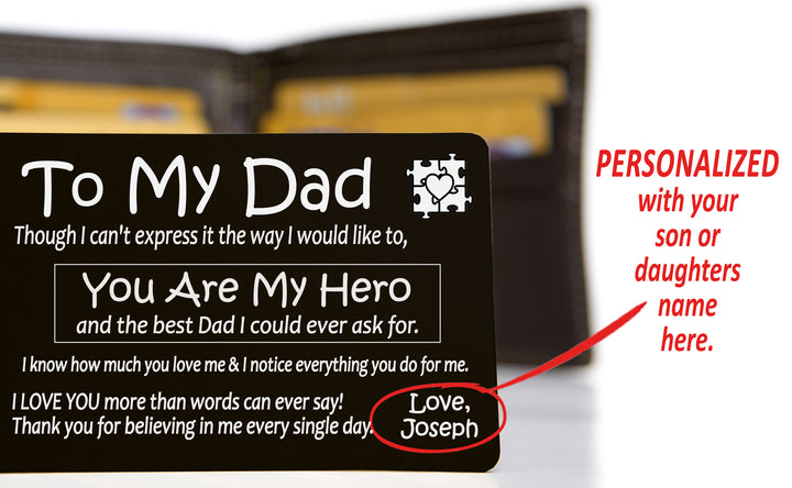 PERSONALIZED Special Needs Child To Dad - High Quality Aluminum Wallet Card