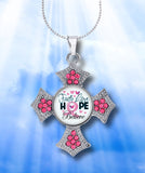 INSPIRATIONAL BREAST CANCER AWARENESS PINK CROSS
