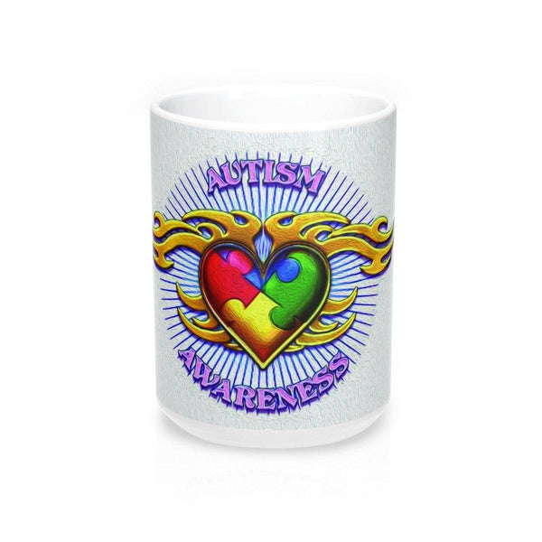 Autism Awareness Tattoo Design Mug