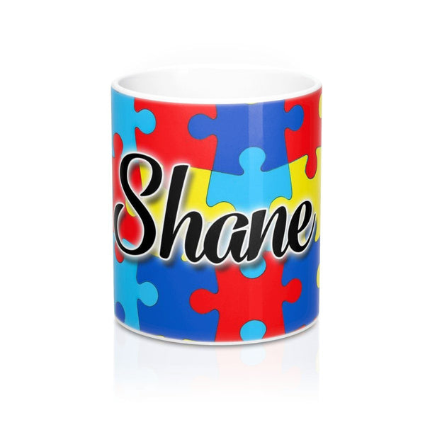Full Color Puzzle Piece Personalized Name Mug