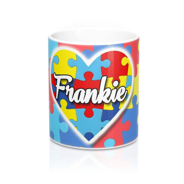 Personalized Autism Awareness Heart Mug