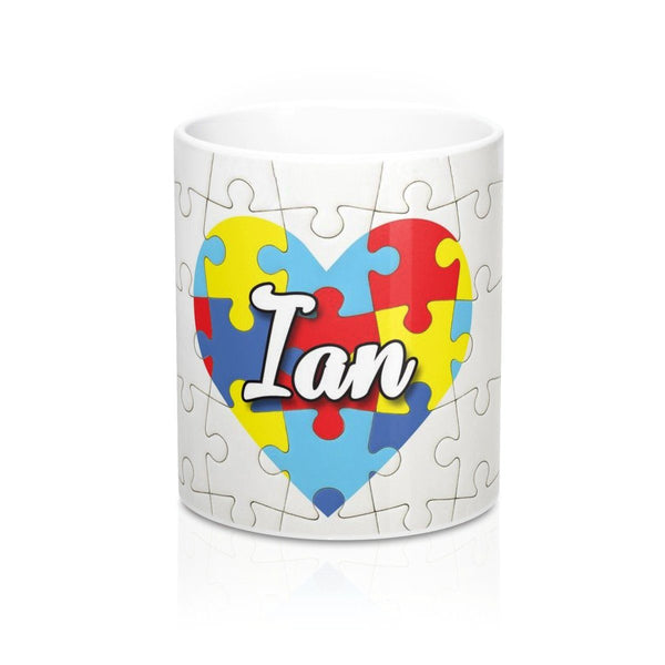 Personalized Heart Autism Awareness Mug