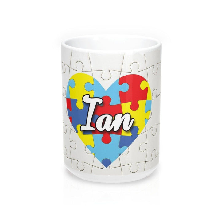 Mug - Personalized Heart Autism Awareness Mug