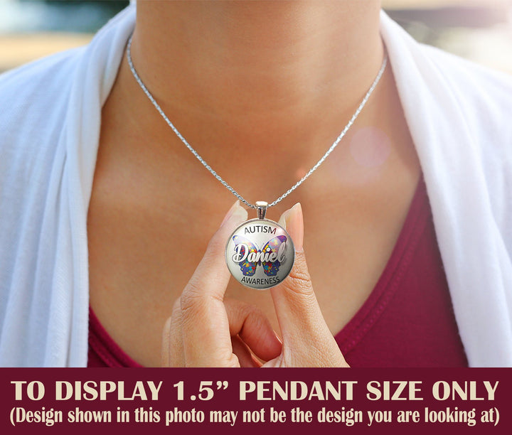 "Pendants - 1"" Or 1.5"" Modern ""Believe With Heart"" Autism Awareness Pendant"