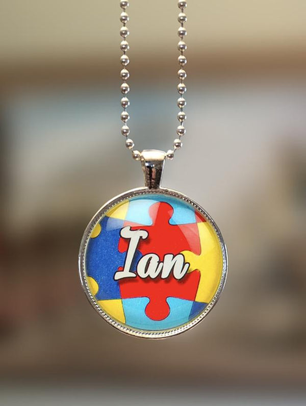 "1"" or 1.5"" Modern Personalized ""Name on Puzzle"" Pendant"