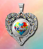 Pendants - Angel Rainbow Wings With Personalized Design