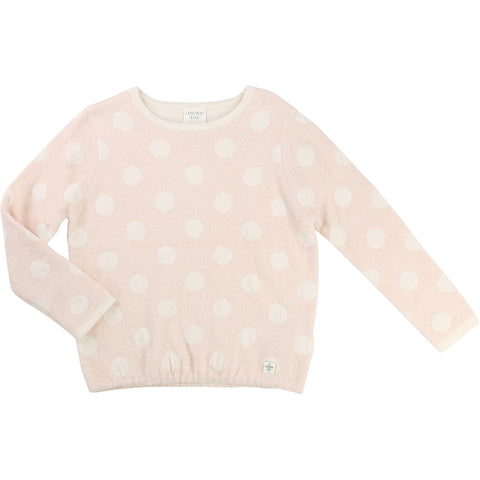 Pink Jumper With White Polka Dots