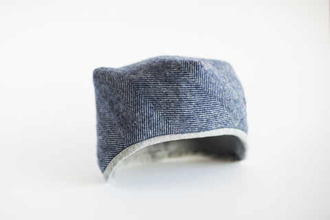 Navy Tweed Hat