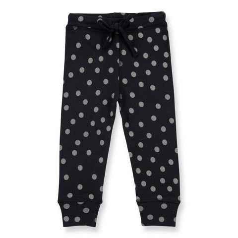Washed Black Dotty Baby Leggings