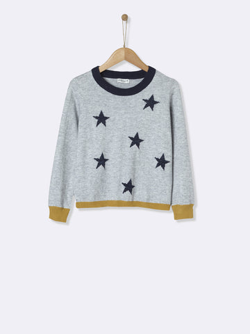 Grey Star Knit Sweater