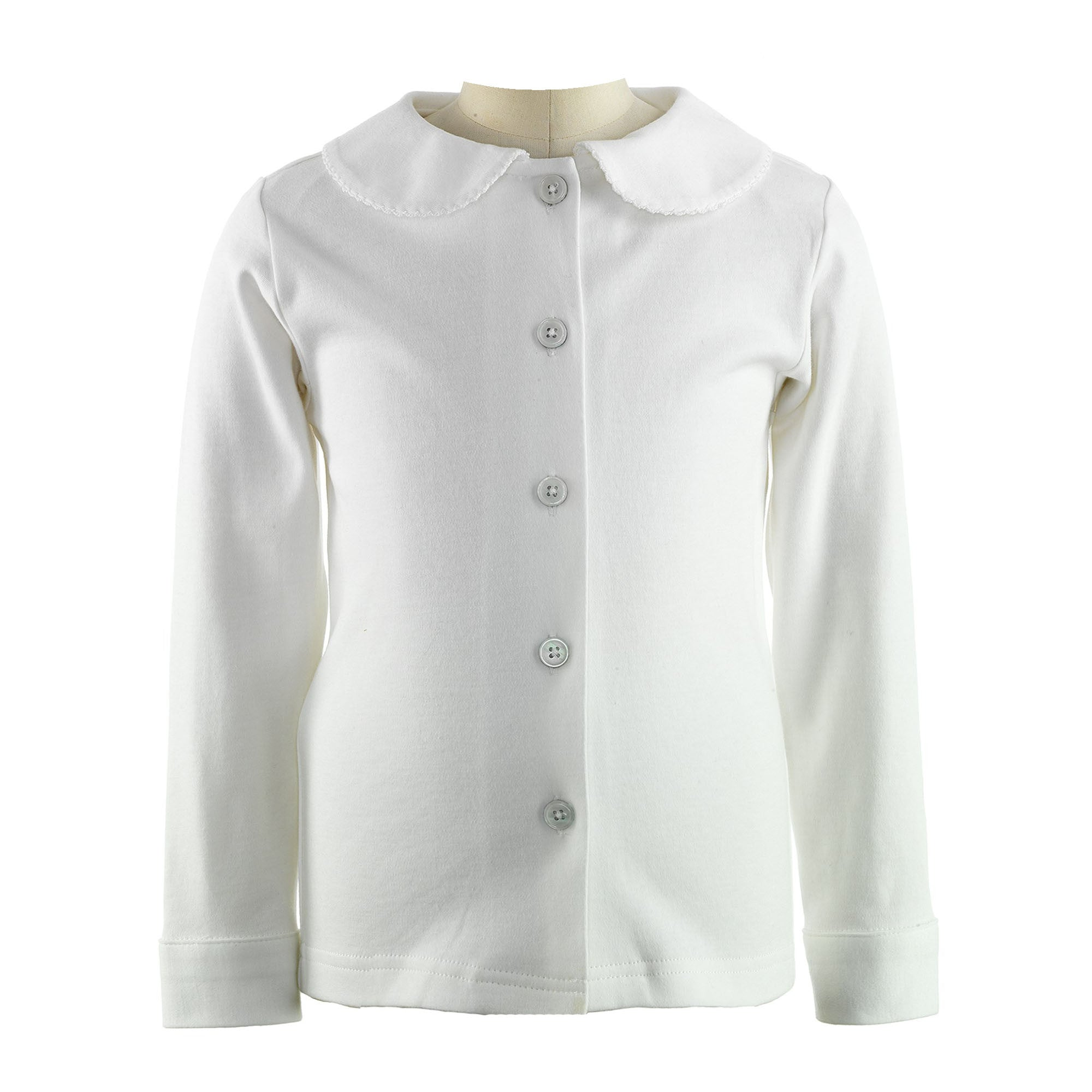 White Jersey Blouse