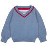 Cotswold shawl collar jumper grey