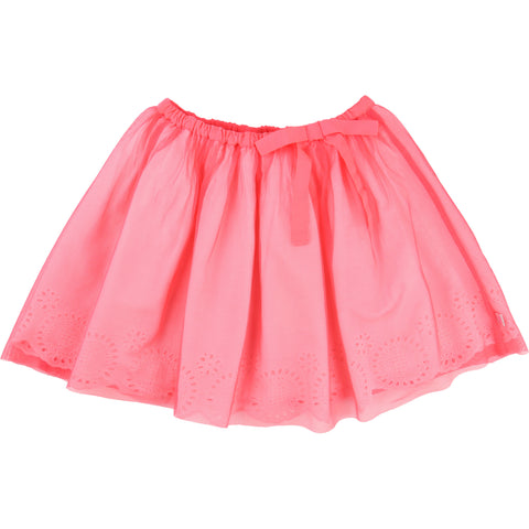 Pink Tulle Broderie Anglaise Skirt