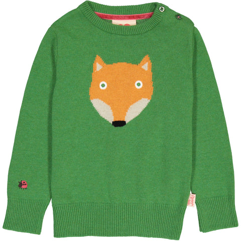 Tootsa Classic Fox Green Knit Jumper