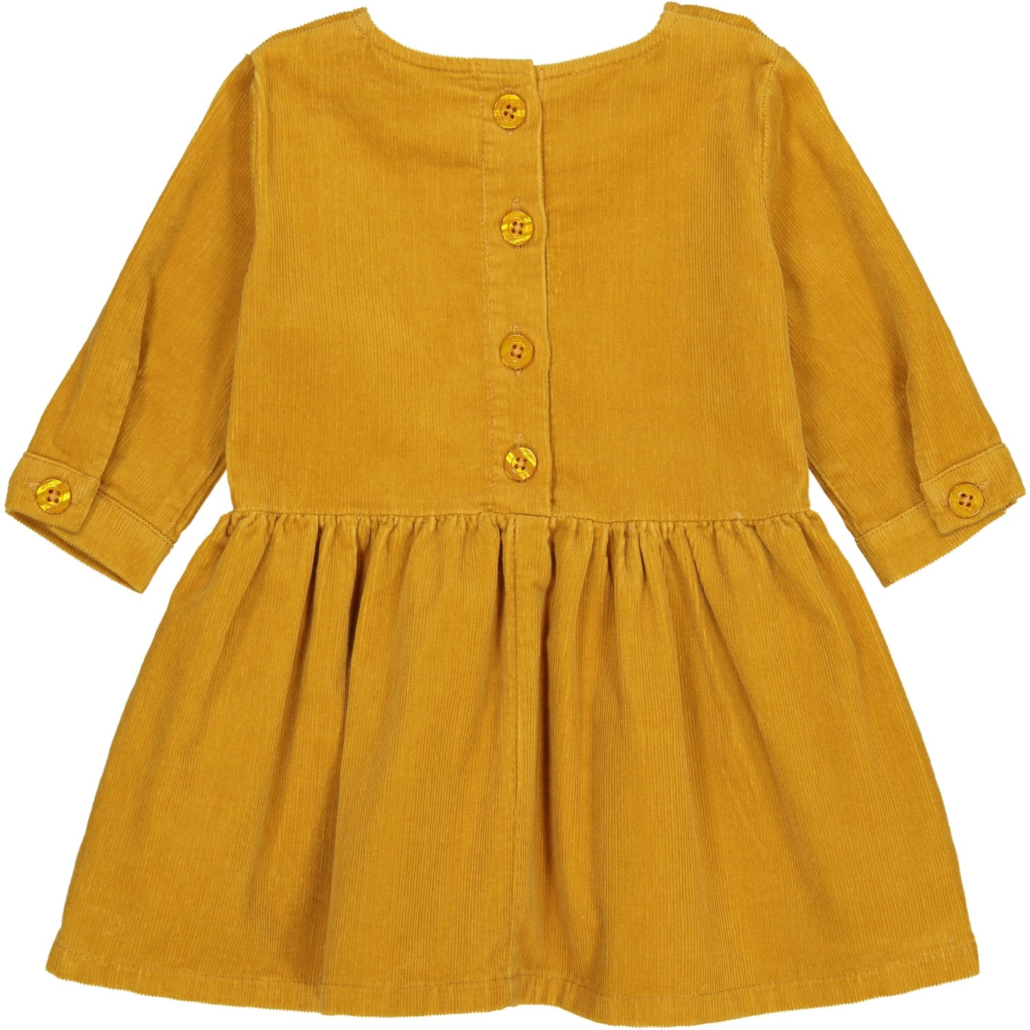 Freya Mustard Corduroy Smock Dress