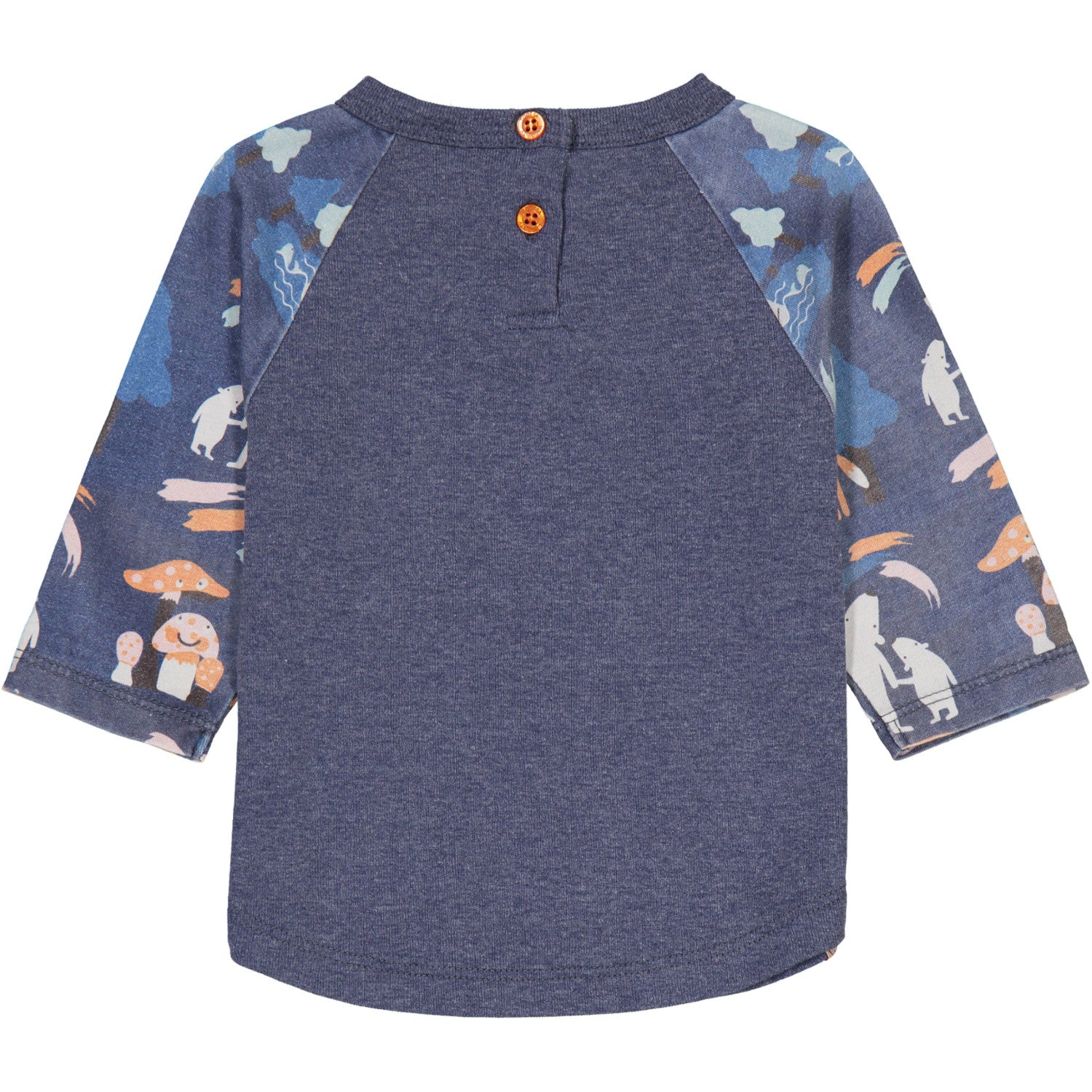 Heather Indigo Northern Lights Raglan Tee