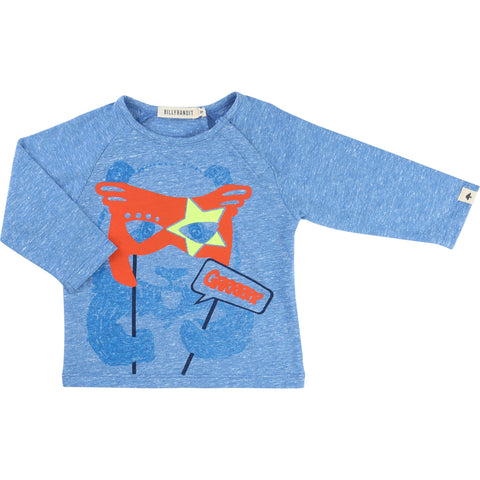 Blue Long-Sleeved Panda Tee