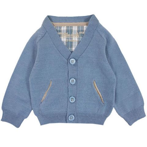 Preppy Boy Blue Cardigan