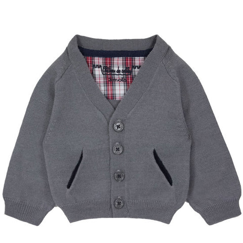 Preppy Boy Grey Cardigan