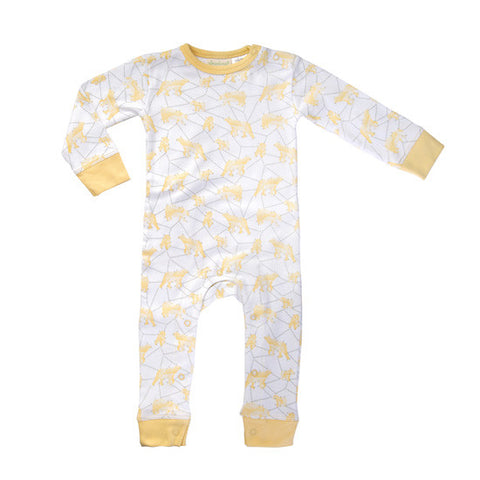 Yellow Galaxy Bear Romper