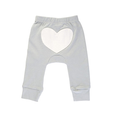 Grey heart pants