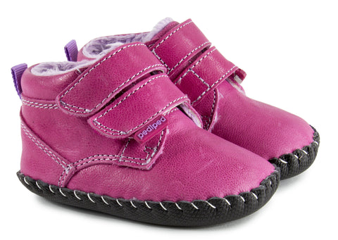 Fuchsia Leather Boot- Lionel