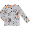Galaxy Bear Blue Long-Sleeved Bodysuit