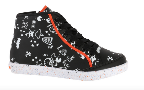 Gaming Print Orange And Black Trainers