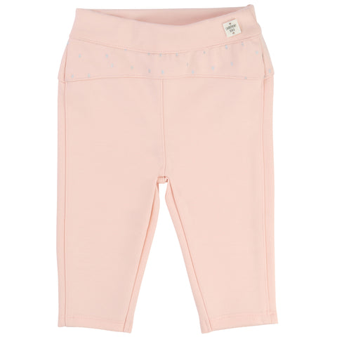 Pink Bottoms With Silver Detailing