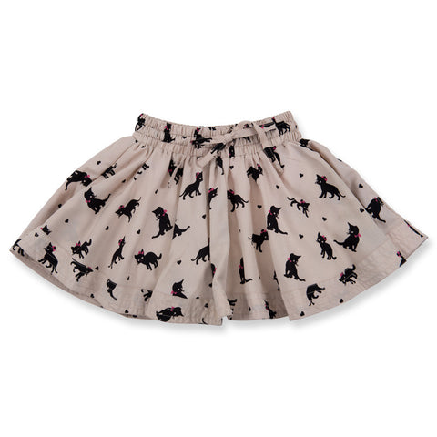 Beige Cat Wind Skirt