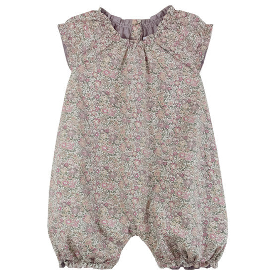 Liberty Print Romper Purple