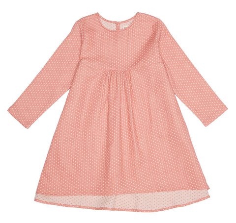 Pink Dotty Empire Dress