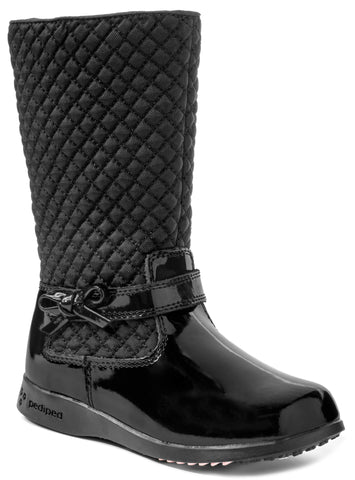 Black Quilted Boot- Naomi